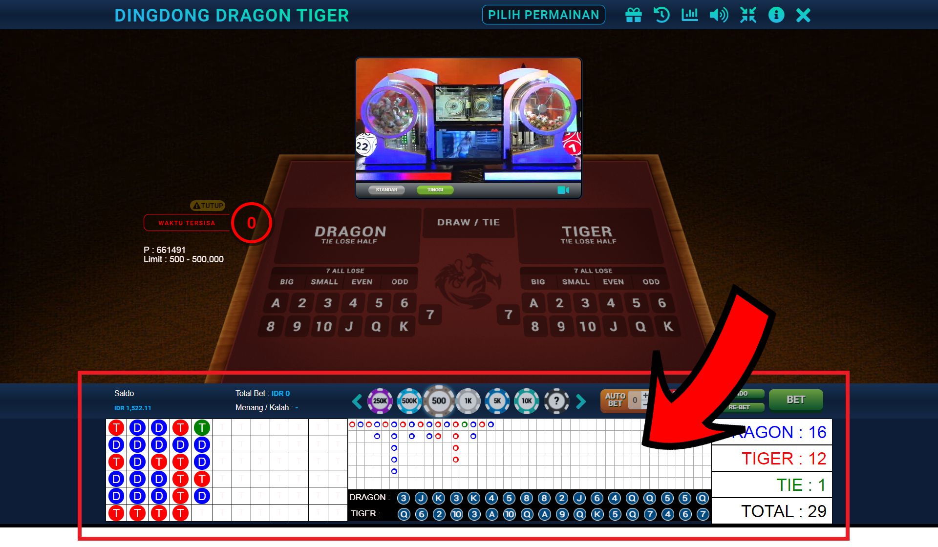 Main dan Menang Dingdong Dragon Tiger di AFATOGEL